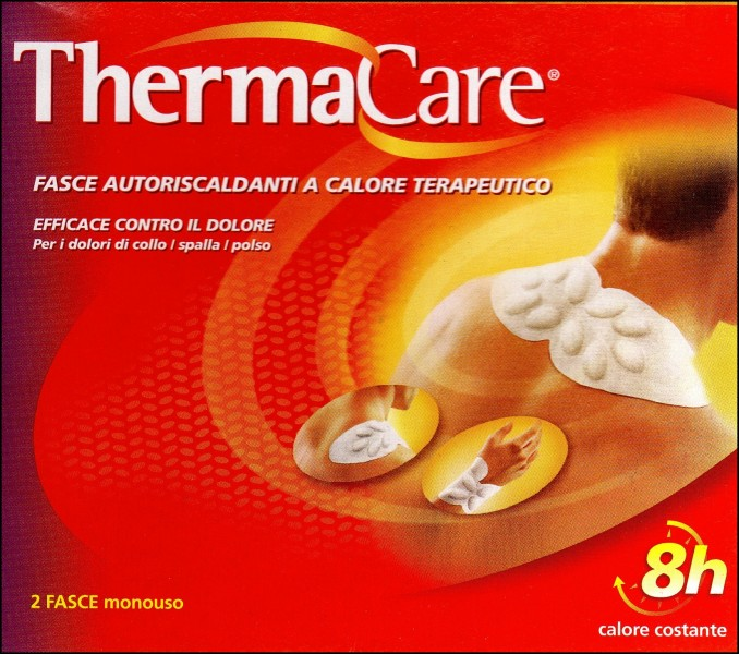 ThermaCare 2 fasce autoriscaldanti a calore terapeutico contro i dolori di collo, spalla polso.