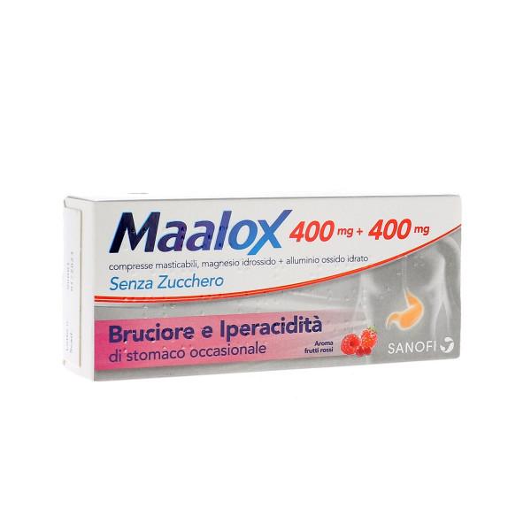 Maalox Senza Zucchero 30 Compresse masticabili 400+400mg