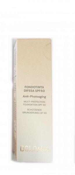 Dolomia Fondotinta Difesa Spf 50 Antiphotoaging 02 Beige 30 ml