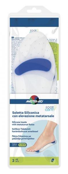 Master Aid Soletta Siliconica Elevazione Metatarsale Taglia XL 43/44 2 Pezzi
