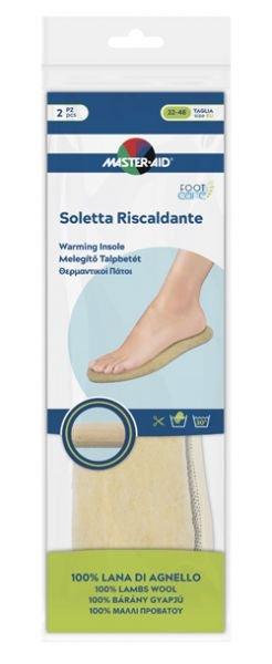 Master Aid Soletta Riscaldante 100% Lana Di Agnello Taglia 22/46 2 Pezzi