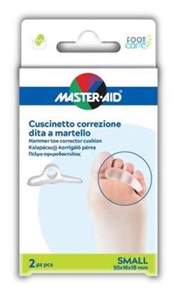 Master Aid Cuscinetto Correzione Dita a Martello Small  55x16x18 mm 2 Pezzi