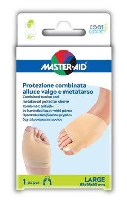 Master Aid Protezione Combinata Alluce Valgo e Metatarso Large 85x95x10 mm 1 Pezzo