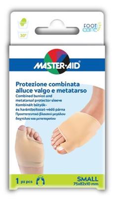 Master Aid Protezione Combinata Alluce Valgo e Metatarso Small 75x82x10 mm 1 Pezzo