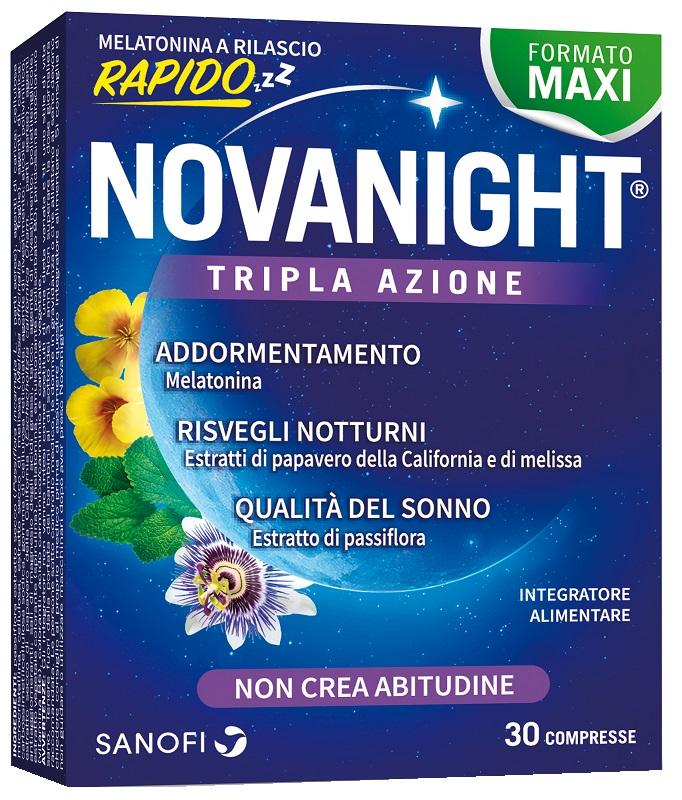 Novanight Tripla Azione 30 Compresse a Rilascio Rapido