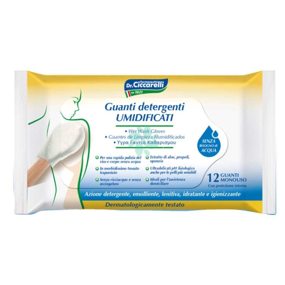 Dr. Ciccarelli Guanti Detergenti Umidificati 12 Guanti