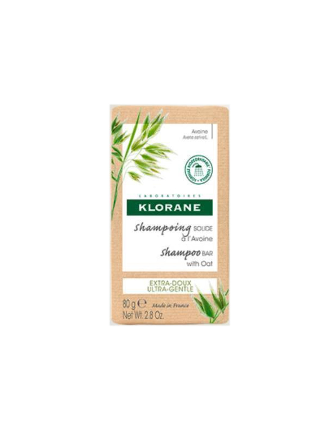 Klorane Shampoo Solido All'Avena 80 g
