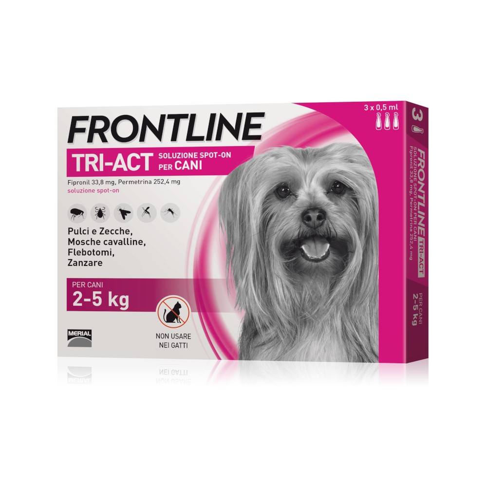 Frontline Tri-Act 3 Pipette Cani 2-5 Kg