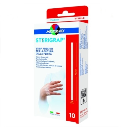Master Aid Sterigrap 75X3mm 10 Strip