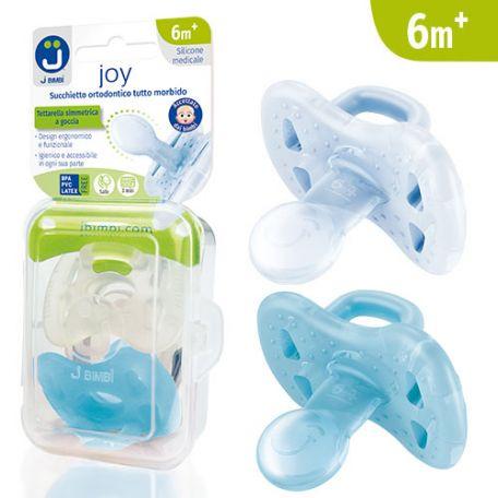 J Bimbi Joy Succhietto Ortodontico Tutto Morbido 6m+ Maschio