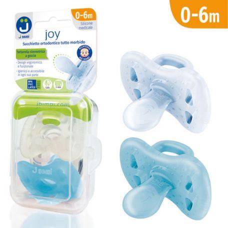 J Bimbi Joy Succhietto Ortodontico Tutto Morbido 0-6m Maschio