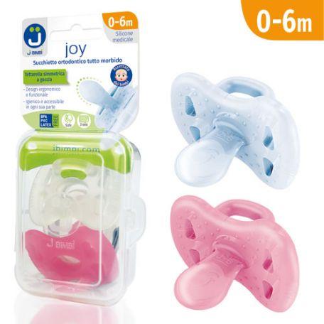 J Bimbi Joy Succhietto Ortodontico Tutto Morbido 0-6m Femmina