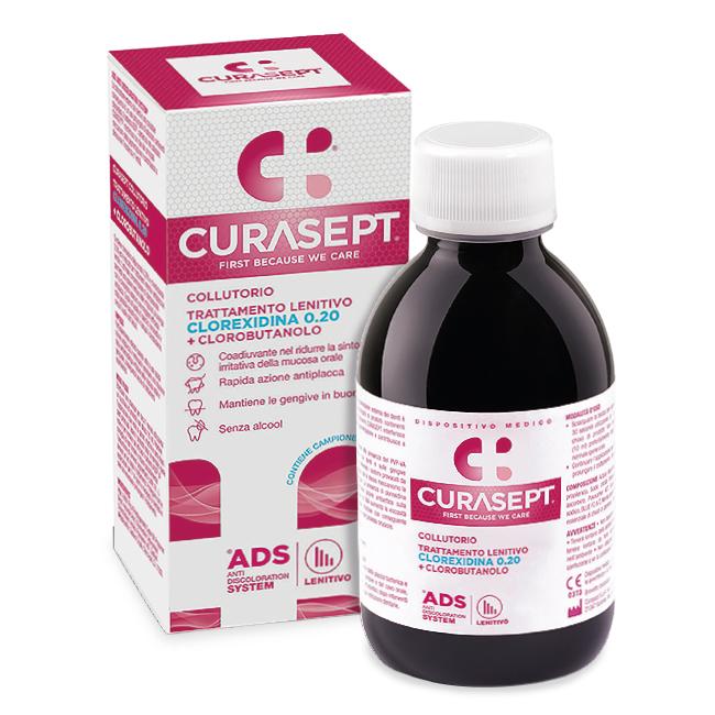 Curasept Collutorio Trattamento Lenitivo Clorexidina 0.20% + Clorobutanolo 200 ml