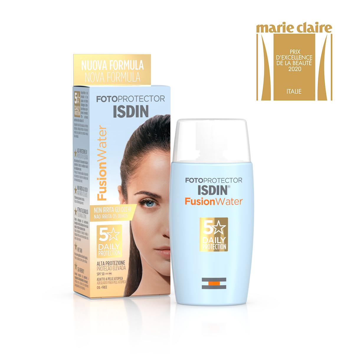 Fotoprotector Isdin FusionWater Spf 50 Solare 50 ml
