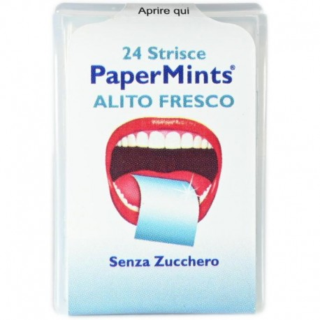 PaperMints Alito Fresco Senza Zucchero 24 Strisce