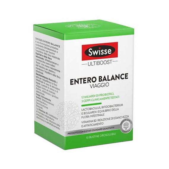 Swisse Ultiboost Entero Balance Viaggio 10 Bustine Orosolubili