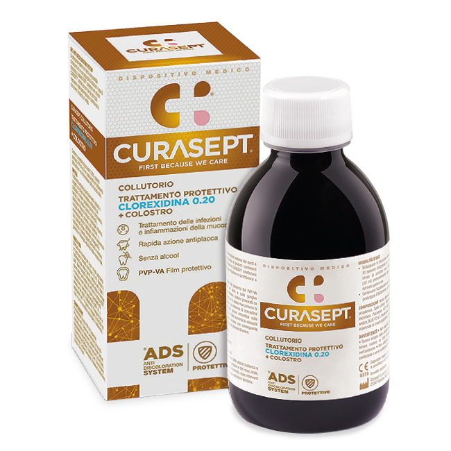 Curasept Collutorio ADS Trattamento Protettivo 0.20 + Colostro DNA ADS 200ml
