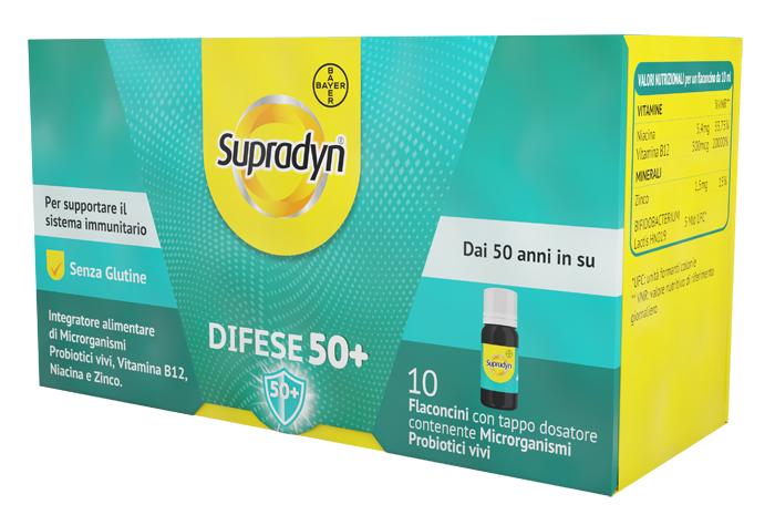 Supradyn Difese 50+ 10 Flaconcini Sistema Immunitario
