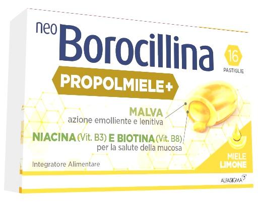 Neoborocillina Propolmiele+ 16 Pastiglie  Miele Limone